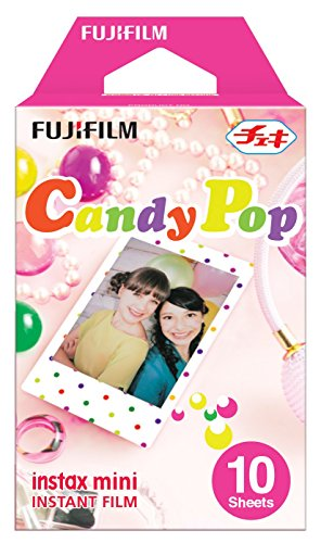 Fujifilm Instax Mini Candy Pop Instant Film (10 Color Prints) [International (Second Skin Wood)