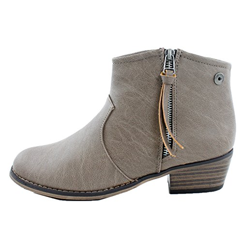 Breckelle's DORADO-11 Western Inspired Zip Up Ankle Boot Bootie