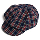 Classic Checked Plaid Newsboy Beret Hat Cabbie Visor Dress Fan Art Painter Octagonal Cap Winter Autumn