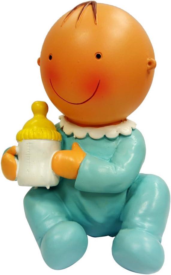 Mopec Y705.3 5 x 10 x 16 cm Salvadanaio a forma di bambino seduto con biberon 1 Pezzo Multicolore