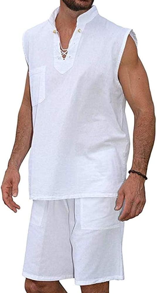VJGOAL Hombre Verano Moda Casual Color sólido Hippie ...
