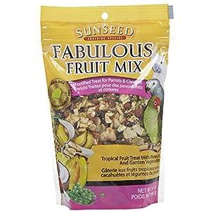 Sun Seed Company Bss59205 Fabulous Fruit Mix Parrot Treats Pouch, 12-Ounce 101
