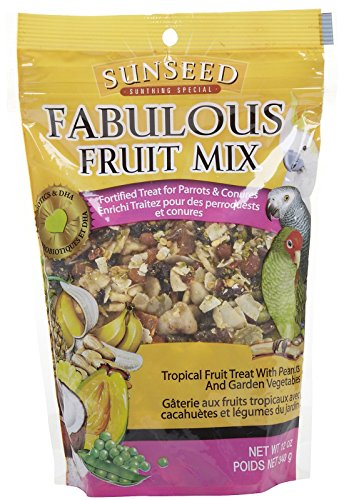 Sun Seed Company BSS59205 Fabulous Fruit Mix Parrot Treats Pouch, (Feeding Mix)