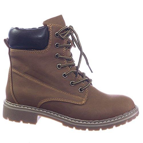Fashion Work Boots w Lug Sole, Padded Collar