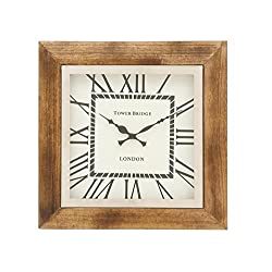 Deco 79 40671 Trendy Wood Wall Clock, 16 W x 16 H