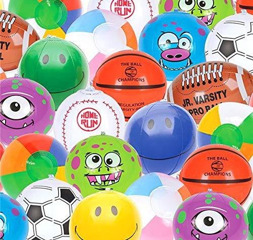 Approximately 5 Smart T inc 100 Mini Inflatable Beach Ball Bulk