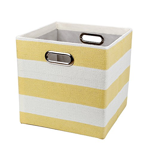 Posprica Collapsible Cube Organizer Bins,Storage Cube Boxes Basket  Containers Drawers For Nurseries,Offices,Closets,Home Décor