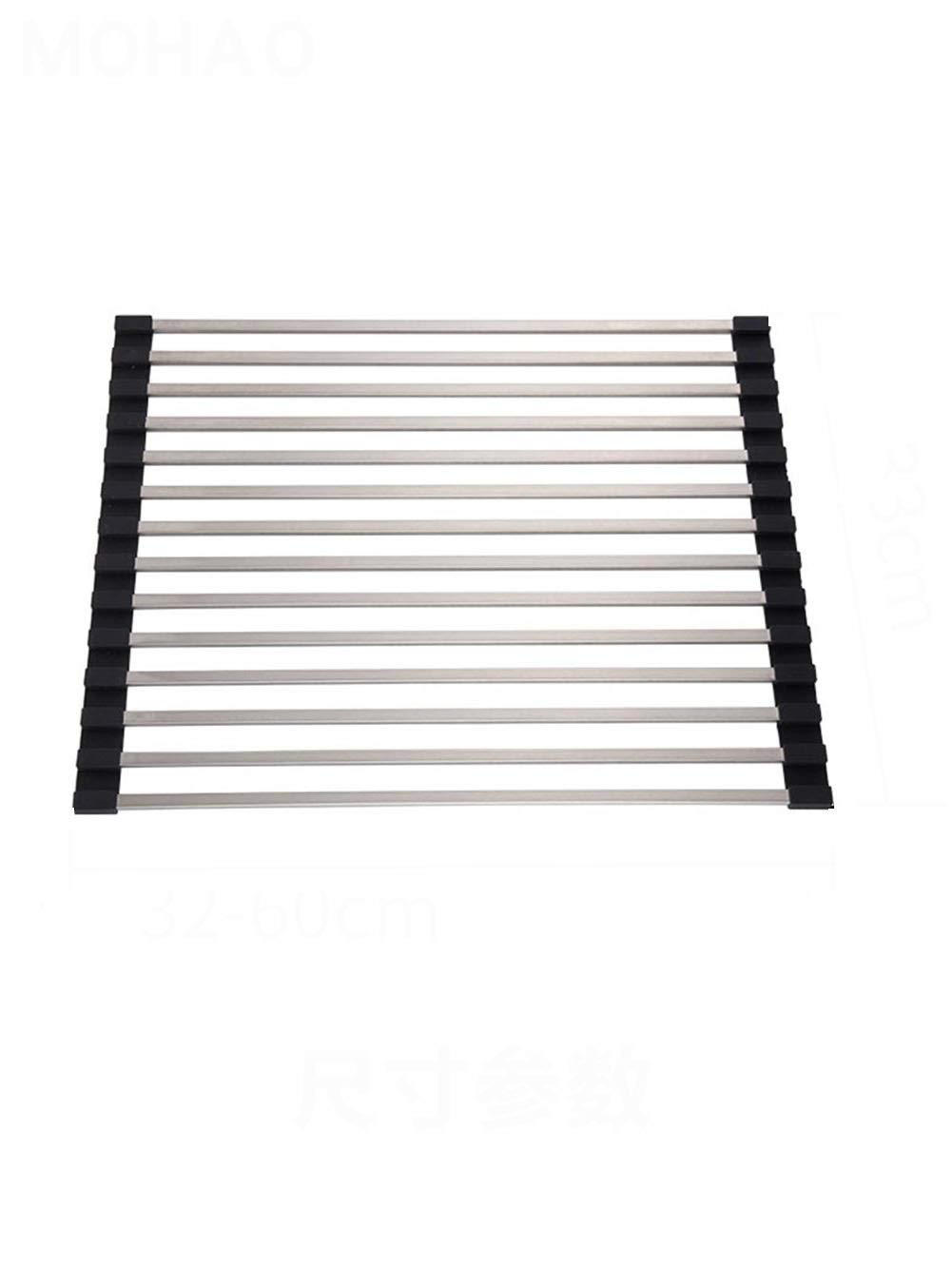 Foldable Kitchen Sink Drain Basket Stainless Steel Sink Drain Rack Dish Rack Easy To Clean Load-bearing Easy Folding Multi-size (Size : 35cm33CM) by Xiguan
