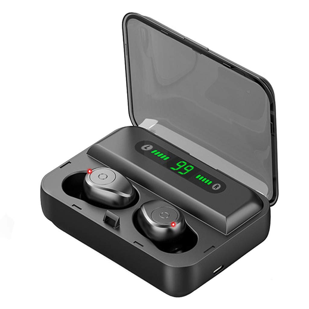 Wireless Earbuds Bluetooth 5.0 Graphene-Enhanced Hi-Fi Headphones with 2000mAh LED Charging Case, IPX7 Waterproof TWS in-Ear Headset 135H Playtime, 8D Stereo Sound Earphones, Noise Canceling w/Mic