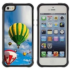 "Hypernova Defender Series TPU protection Cas Case Coque pour Apple iPhone SE / iPhone 5 / iPhone 5S [Cielo y globos""]"