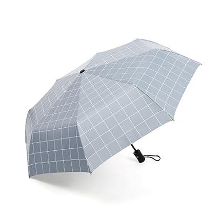Sombrilla a cuadros sombrilla simple sombrilla creativa paraguas paraguas estudiante 27 cm (10,6