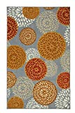 Mohawk Home Aurora Foliage Friends Floral Medallions Printed Area Rug, 5'x8', Grey