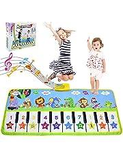 LEADSTAR Grote Piano Speelmat, Muzikaal Speelgoed voor 2 jaar oud, Muziek Dansmat voor Peuters, Piano Mat met 10 Toetsenbord & 8 Muziekinstrumenten Vloer Toetsenbord Baby Play Mat, Touch Muziek Tapijt (135×59cm)