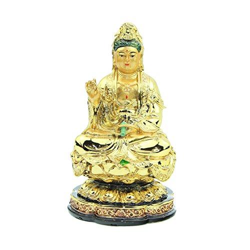 Feng Shui Import Golden Guan Yin Statue