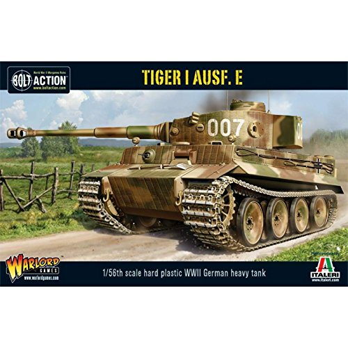 Bolt Action Tiger I AUSF E Heavy Tank 1:56 WWII Military Wargaming Plastic Model - Tiger Miniature