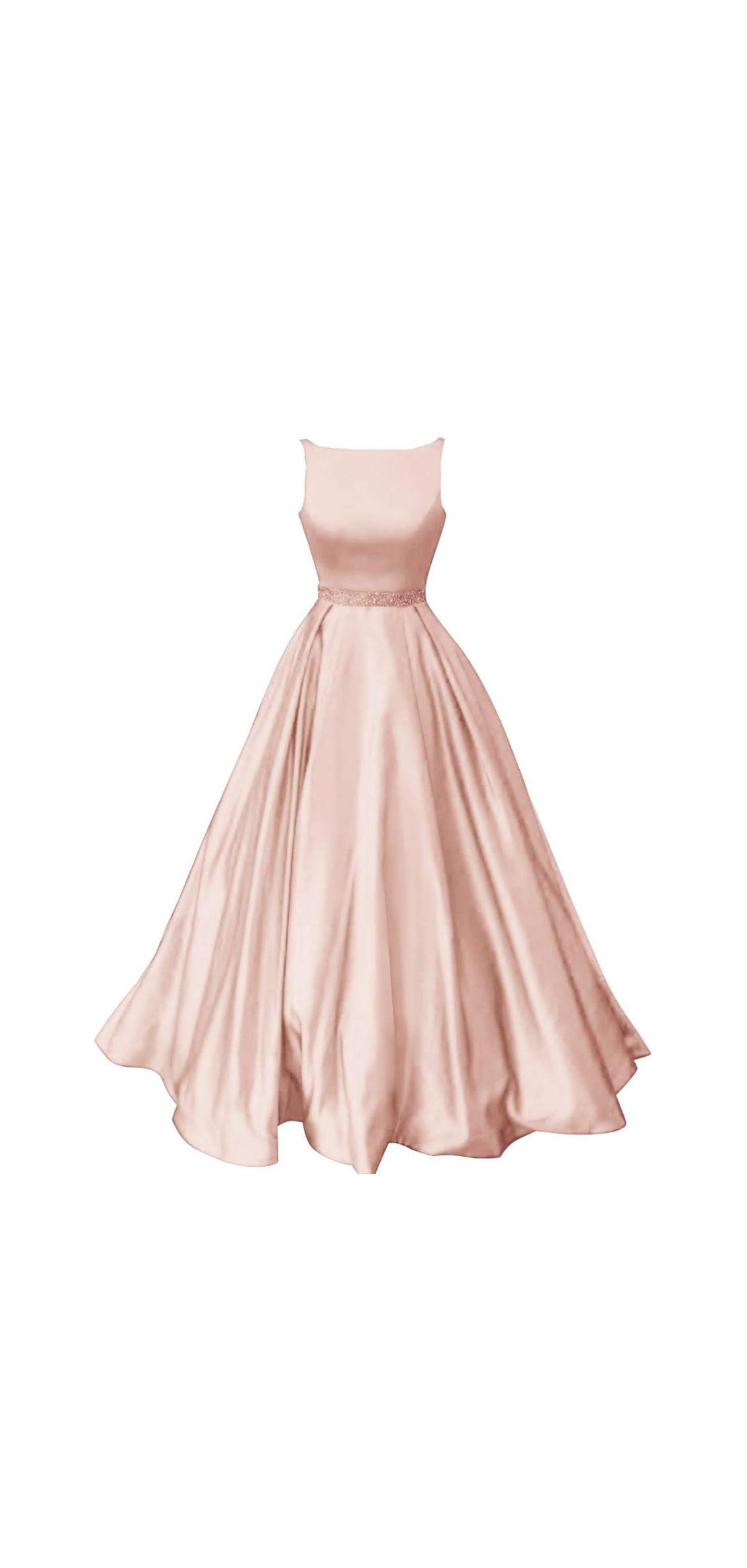 Prom Dresses Long Satin A-line Formal Dress For Women