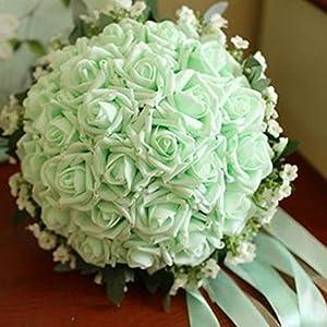 Send Men Corsage Rose Flower Artificial Bride Hands Holding Rose Flower Wedding Bridal Bouquet Bridal Bouquet Customizable 1