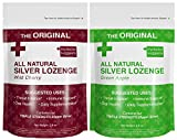 Organic Silver Lozenges - Wild Cherry and Green Apple (2-Pack) - The...