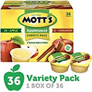 Mott's Apple & Cinnamon Variety Pack Applesauce, 4 Ounce Cup, 36 Count