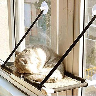 Mlec tech Hamaca para Ventana de Gato o Perca, Cómoda Cama para Dormir con Gato Grande de hasta 15 kg