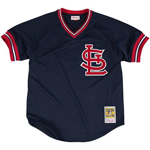 (Ozzie Smith St. Louis Cardinals Navy Authentic Mesh Batting Practice Jersey)