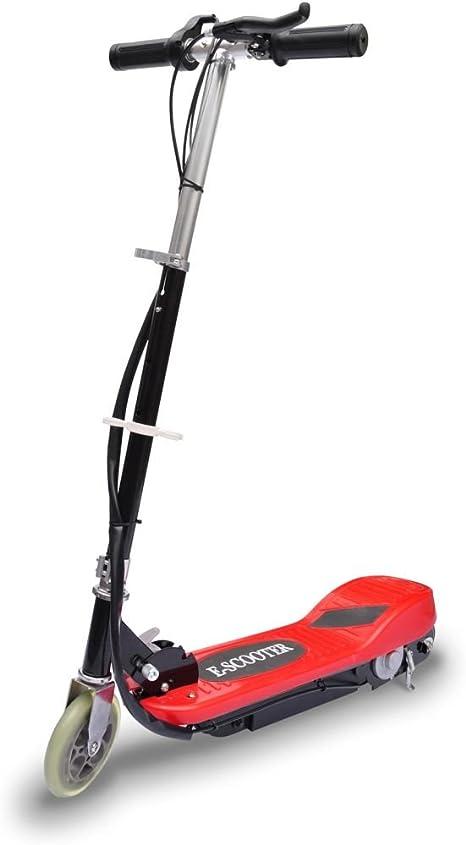 Tidyard Trottinette /électrique avec LED Fonctionnement Stable et Robuste et Pliable 120 W Rouge