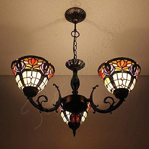 ETERN Continental Retro Luxury Glass Handmade Chandeliers Pendant Light - 3 Lights