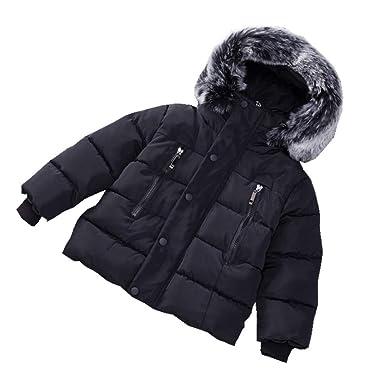 eb2463e26 RACHAPE Kids Girls Winter Hooded Down Coat Boys Puffer Jacket Warm Parka  Outerwear Windproof Padded Cotton