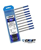 Diamond Ground TIG Welding Tungsten Electrodes 2% Lanthanated Blue 0.040'x7' (10 Pack)