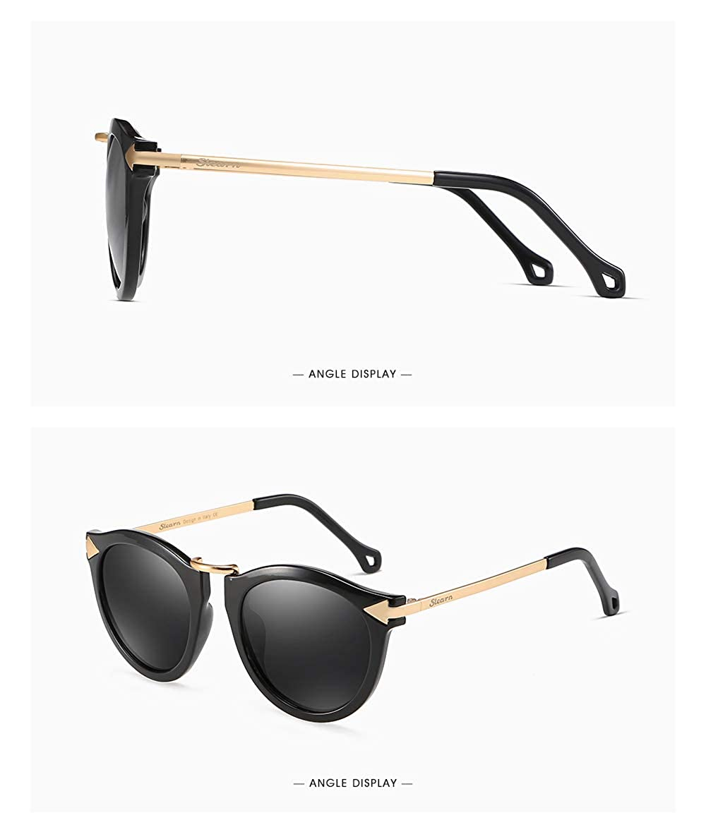 Amazon.com: Gafas de sol polarizadas vintage para mujer con ...