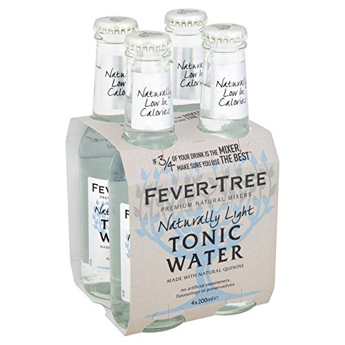 Fever-Tree Naturally Light Tonic Water - 4 x 200ml (27.05fl oz) by Fever-Tree