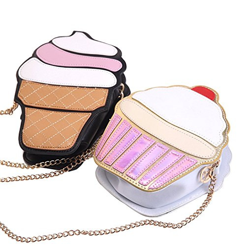 ZIIPOR Ice Shoulder Bag Cake Women's Cream Crossbody Bag Bag Small Cute Bag Cream Shoulder PU Ice rSqgUwr
