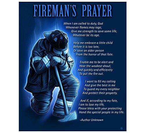 Erazor Bits Fleece Blanket 50 x 60| Fireman's Prayer Throw Blanket FF2011-TB