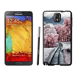 NEW Unique Custom Designed Samsung Galaxy Note 3 N900A N900V N900P N900T Phone Case With Through The Pink Woods_Black Phone Case