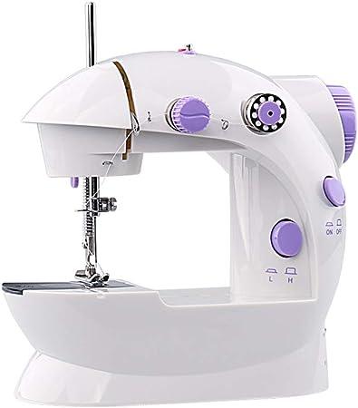 Teng Peng Máquina de coser, mini portátil de mano for reparaciones rápidas, doble línea de casa