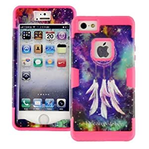 Case For HTC One M7 Cover case, Case For HTC One M7 Cover cover, Dream Catcher Design Magicsky 3 in 1 Combo Tuff Hybrid Shockproof Protector Case For HTC One M7 Cover,- 1 PaRetail PackagiHot Pink