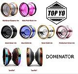 TOP YO Dominator Yo-Yo - Aluminum with Stainless Steel Rims - Lin Junyi Signature Model (Silver/Gold Rims)