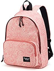 Baida Fashion School Bag with Printed Patterns For Teen Girls,Fits 14inch Laptop