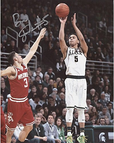 bryn-forbes-jump-shot-vs-wisconsin-autographed-8x10-photo