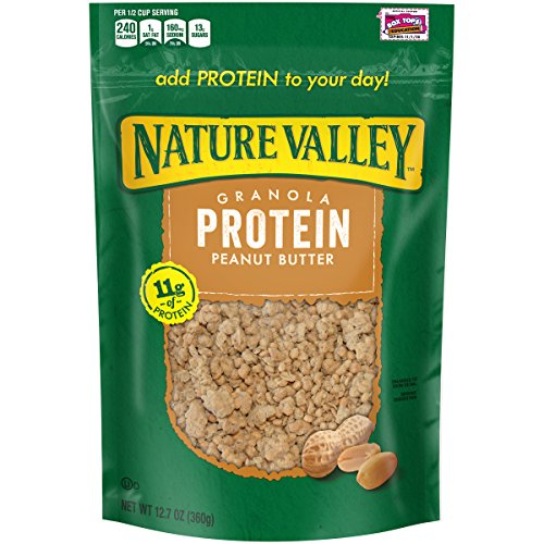 Nature Valley Protein Granola, Peanut Butter, 12.7 (Protein Bar Honey Peanut Yogurt)