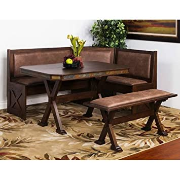 Gentil Amazon.com: Sunny Designs 0222AC Savannah Breakfast Nook Set W/ Side Bench:  Kitchen U0026 Dining