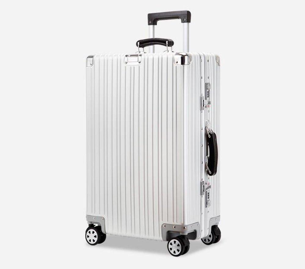 cas-02 スーツケース キャリーケース 全金属 旅行ケース TSAロック搭載 トランク B06XRST4VJ 28インチ シルバー シルバー 28インチ