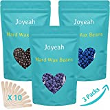 painless Hard Wax Beans, Joyeah 10.5 Oz Hair Removal Hard Wax Beads, Painless Waxing For Facial Arm Legs with 10 Wax Spatulas, 3 Colors