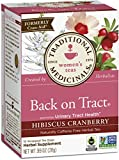 Traditional Medicinals Back on Tract Hibiscus Cranberry Tea, 16 Count (Pack of 6)