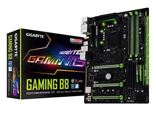 GIGABYTE GA-Gaming B8 LGA1151 Intel ATX 2-Way Crossfire DDR4 USB 3.1 USB Type-C RGB Fusion M.2 Smart Fan 5 Motherboard by Gigabyte