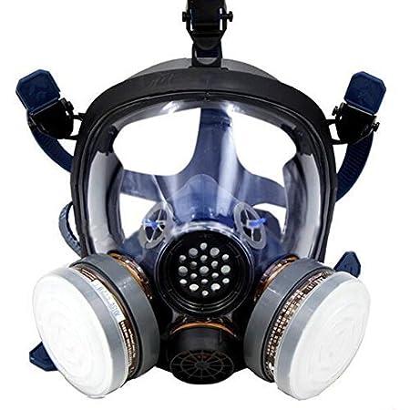 Babimax Respirador de Cara Completa de Industrial Chemical Mascarilla Seguridad con Gafas