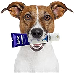 Beef-flavored Dog Toothpaste -- Turn tooth brushing into a Joyful experience - Safe to Swallow - Fights bad breath, Plaque & Tartar - Prevent Gum Disease - Free from toxic Foaming agent