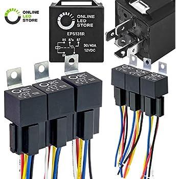Superb Amazon Com Online Led Store 40 30 Amp Waterproof Relay Switch Wiring Digital Resources Llinedefiancerspsorg