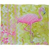 Deny Designs  Madart  Flamingo Dance, Fleece Throw Blanket, Medium, 60'' x 50''