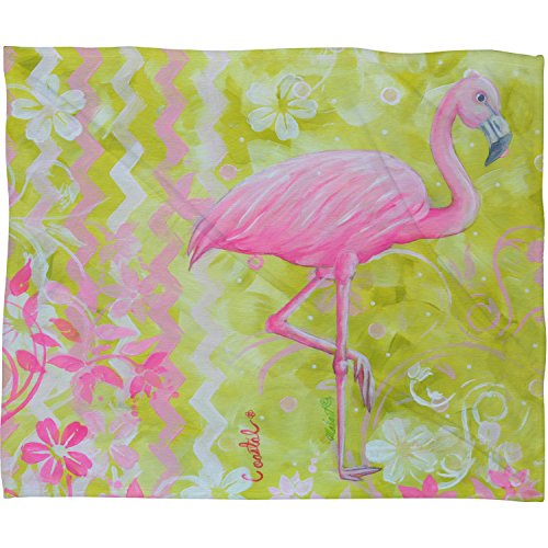 Deny Designs  Madart Flamingo Dance, Fleece Throw Blanket, Large ,  80'' x  60'' by Deny Designs